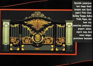 gambar pintu pagar besi tempa, pagar besi tempa wrought iron
