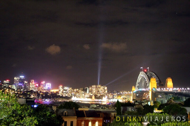 Harbour Bridge de Sydney visto desde el Observatory Hill Park