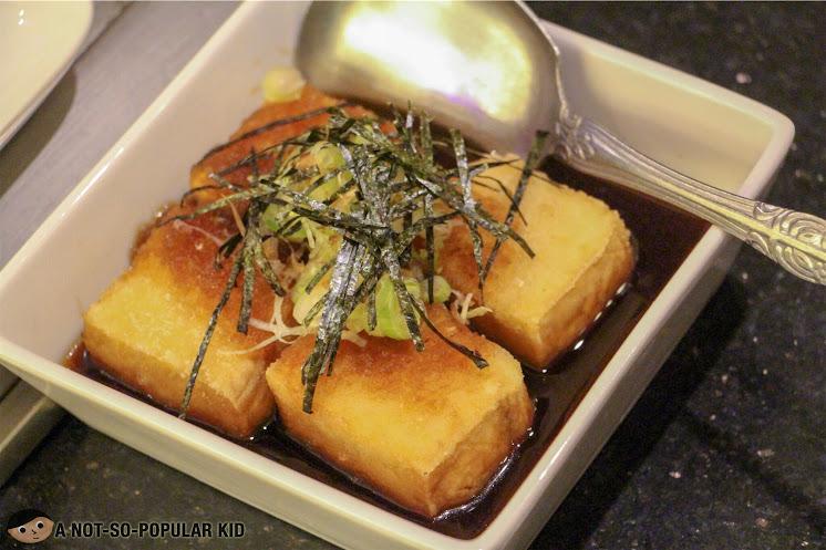Kimpura's gingery sweet Agedashi Tofu