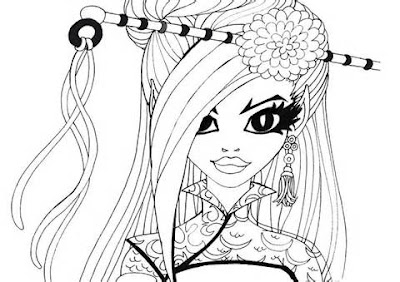 coloring Jinafire Long Monster high coloring page