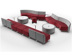Modular Seating Layout For A Large Lobby