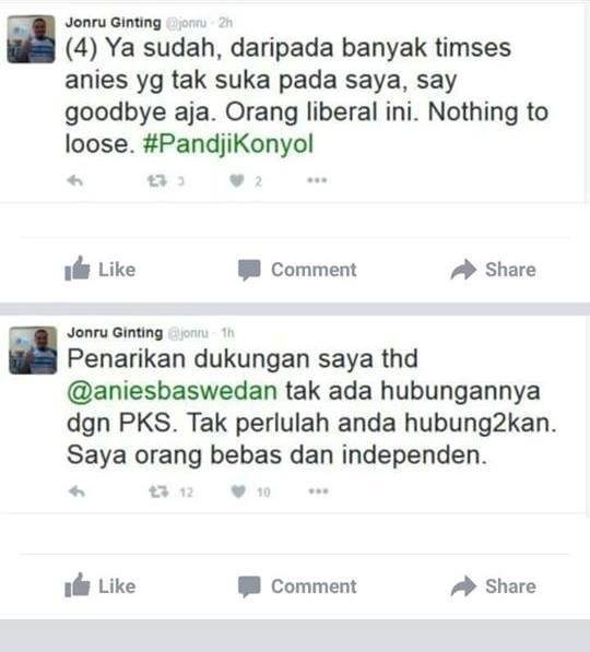 Kocak! Jonru Tarik Dukungan untuk Anies Baswedan, Malah Ribut dengan Pandji, Dibully Netizen Pula