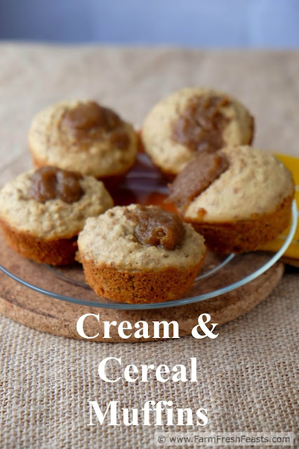 Got leftover cream? Got leftover cereal? Save money and eat well by shopping your pantry first and combining your leftovers in a sweet-yet-wholesome breakfast snack of Grape Nuts cereal and cream muffins.