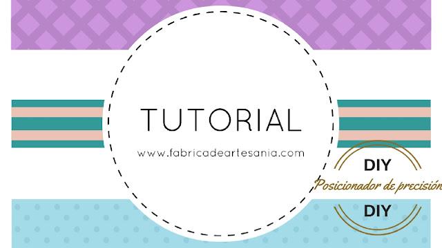Cartel de tutorial para hacer un posicionador casero para estampar los sellos con más precisión