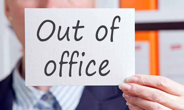 'Out of office' sign