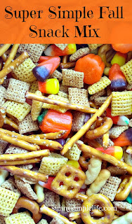 fall snack mix, Chex snack mix