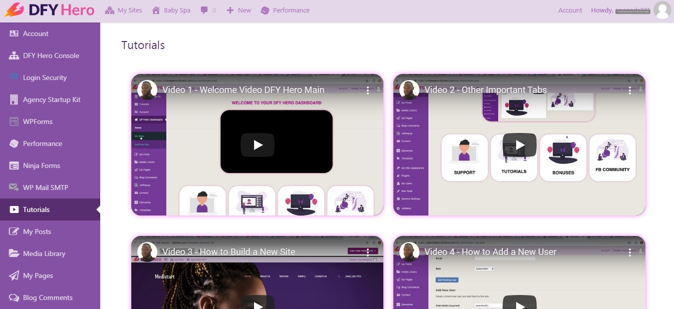 Membuat Website Menggunakan DFY Hero