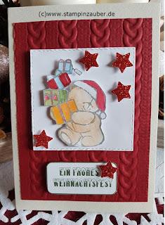 Weihnachtskarte von Silvi Provolija Unabh. Stampin' Up! Demonstratorin