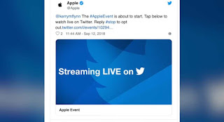 Apple streaming live on twitter