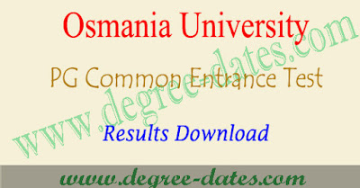 OUCET results 2018 ou pgcet rank card download at Manabadi
