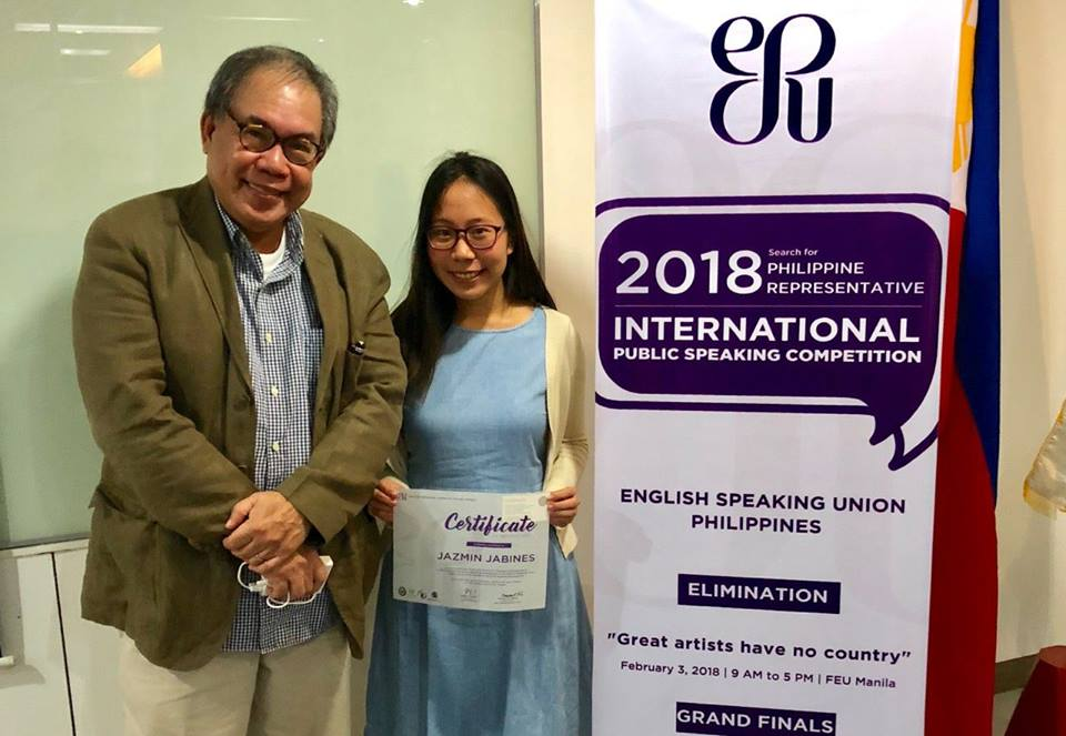 Filipina wins grand prize in the international public speaking contest in London