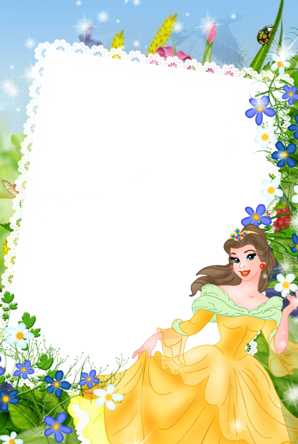 disney princess all together and alone  free printable photo frames