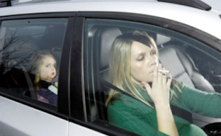 smoking in front of kids