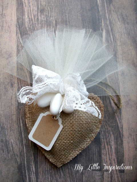 Inviti Handmade per Matrimonio Rustico Romantico - Bomboniera coordinata - MLI