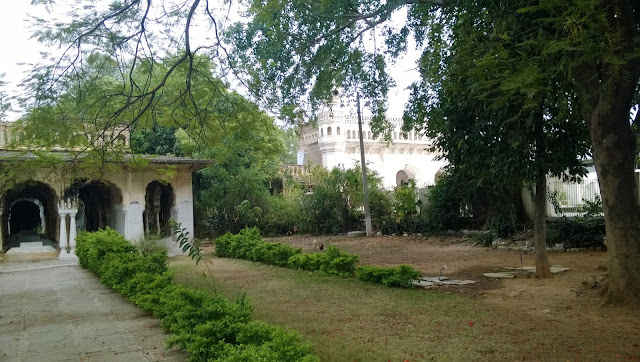 Another view of the paigah tombs area in the city of hyderabad