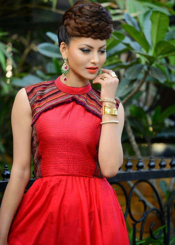 Actress Celebrities Photos: Urvashi Rautela In Red Dress