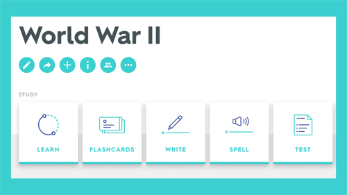 World War 2 Quizlet study unit