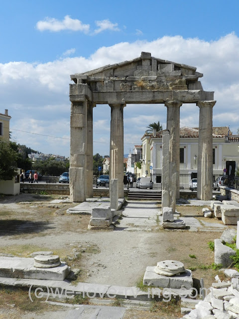 Some of the ruins within the Roman Agora community