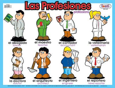 Dibujos de oficios y profesiones para niños