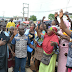 Massive crowd hails Fayose chanting OSOKO as he makes first public appearance