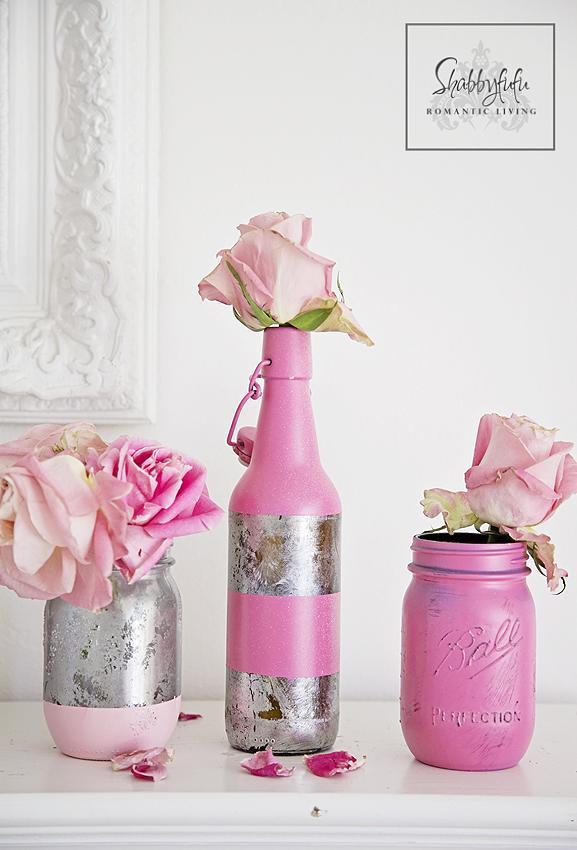 pink mason jars valentines day