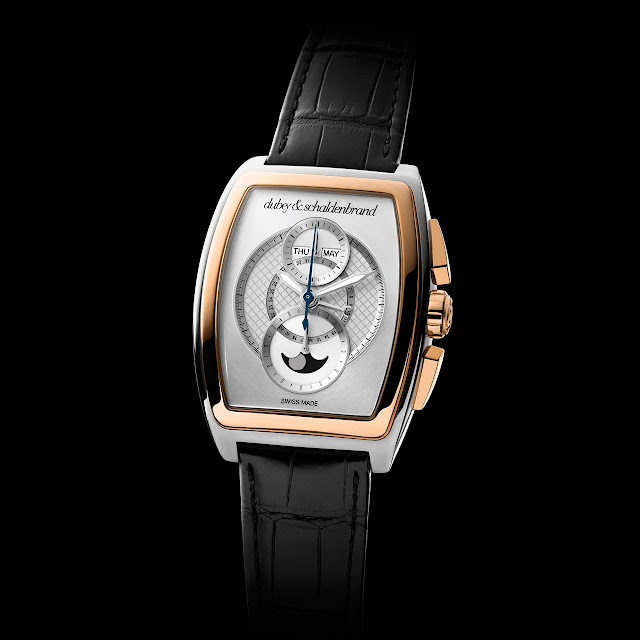 Dubey & Schaldenbrand Grand Dôme DT Rose Gold Watch silver dial