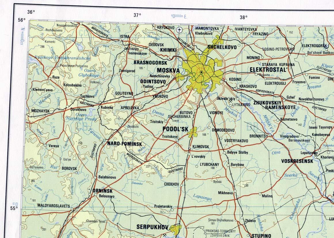Karta Over Moskva Bild