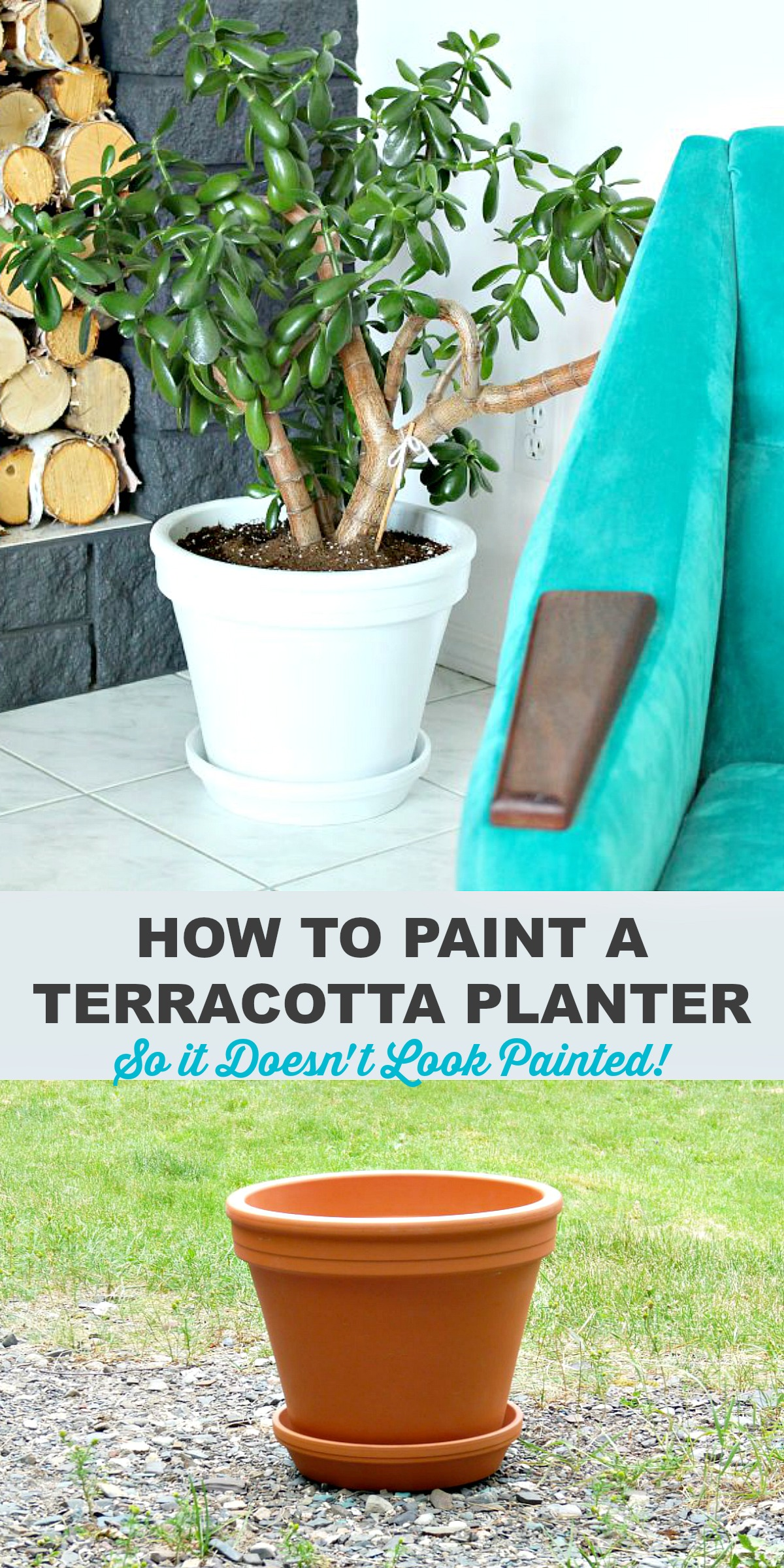 How to paint terracotta planter so they don't look painted
