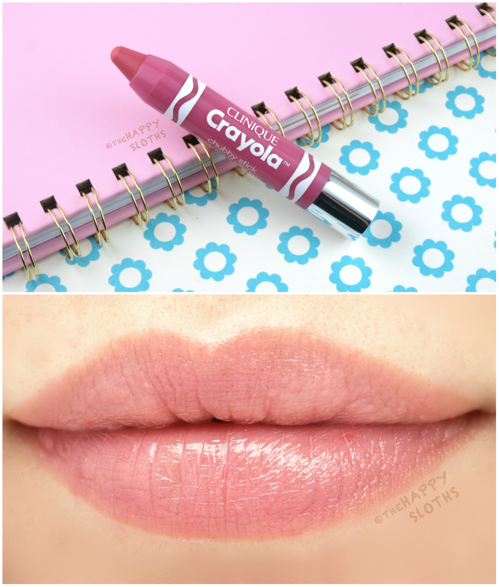 Clinique Crayola Chubby Stick Pink Sherbert: Review and Swatches