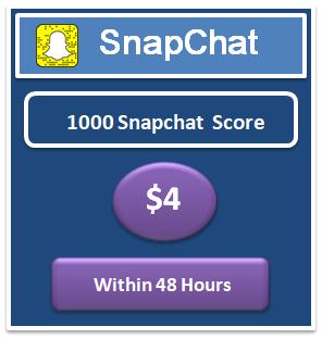 1000 Snapchat Score