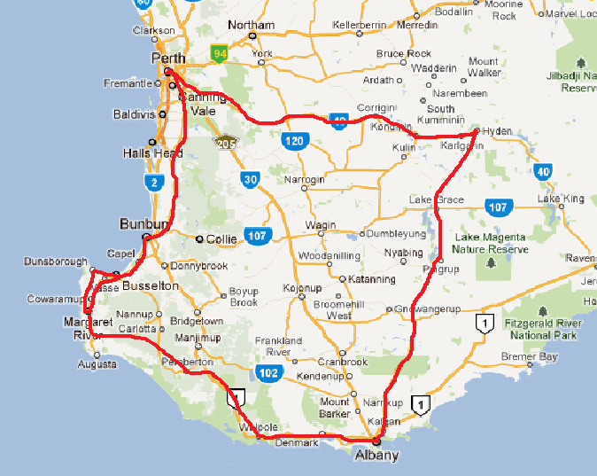 Map Of South Western Australia.Where S Wasy South Western Australia Adventure Bunbury