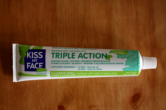 Earth-friendly alternative: Kiss my face toothpaste