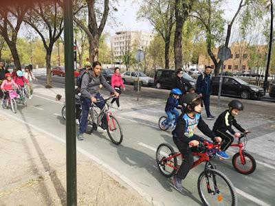 Excursión Bicicleta Colegio Maria Auxiliadora. Zaragoza