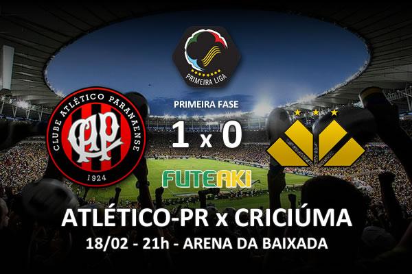 Veja o resumo da partida com o gol e os melhores momentos de Atlético-PR 1x0 Criciúma pela 2ª rodada da Copa Sul-Minas-Rio 2016.
