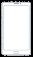 スマートフォン型の座布団(白・縦長3)