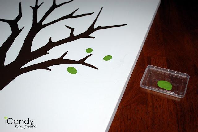 Green fingerprints added to the tree