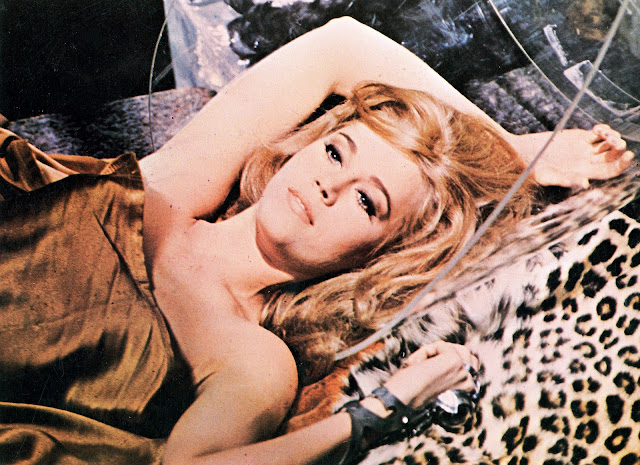 Jane Fonda waking up after sex in Barbarella