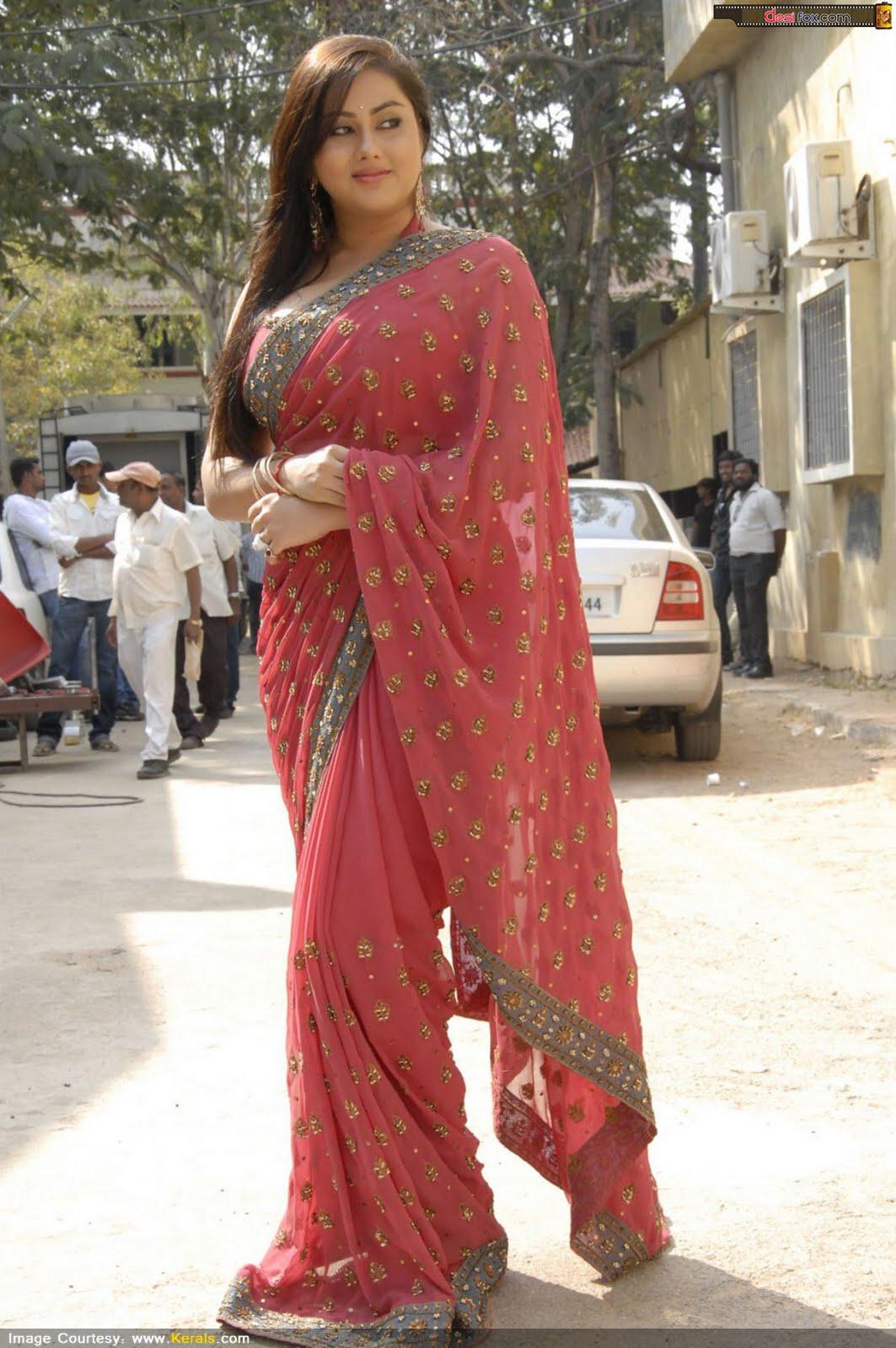 Malayalam Posters Namitha In Beautiful Saree- Huge Boobs -1305