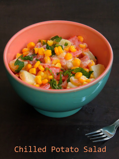 Potato,tomato & Corn Salad, Chilled Potato Salad