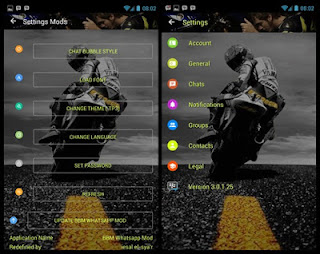 BBM MOD Valentino Rossi for Android Gingerbread, Jellybean, and Up