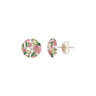Surprise Mom with Stud Earrings - Blush Bouquet Earrings Floral