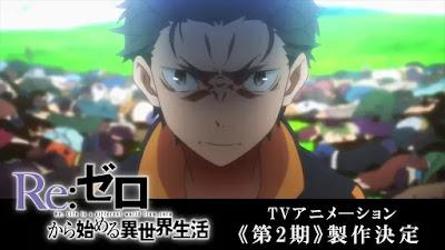Segunda temporada de Re:Zero é anunciada!