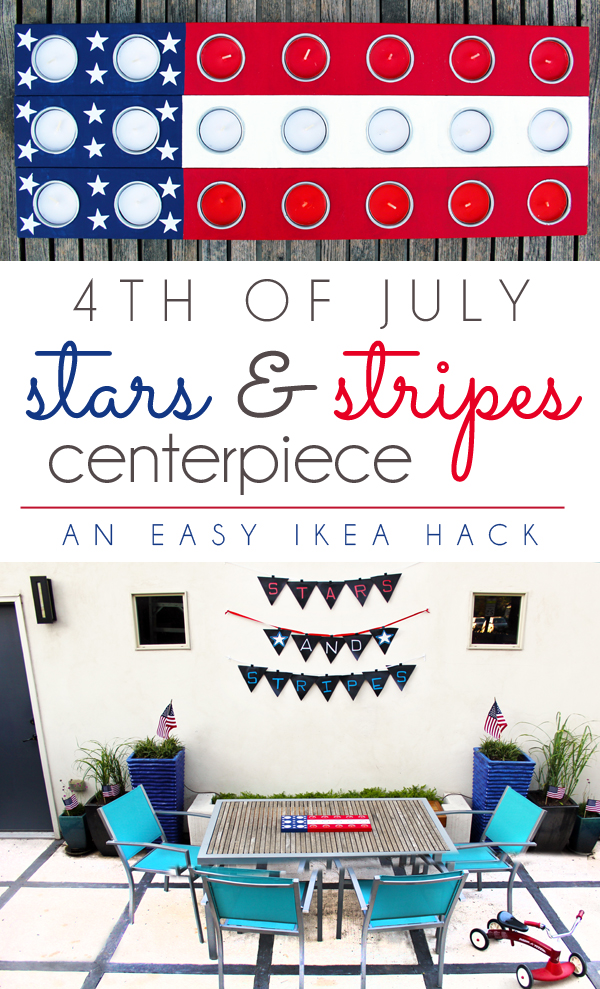 IKEA HACK 4th of July Stars and Stripes American Flag Patriotic Centerpiece