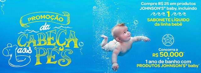 """Promoção Johnson's Baby """"Da cabeça aos pés"""" Blog Top da Promoção #topdapromocao www.topdapromocao.com.br"""