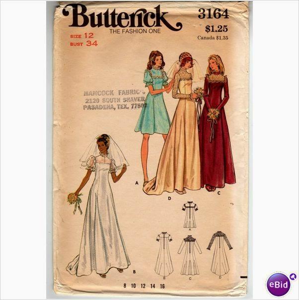 bbc93f076f7 http   uk.ebid.net for-sale misses-bridal-dress-sewing-pattern-vintage -1970s-124975132.htm