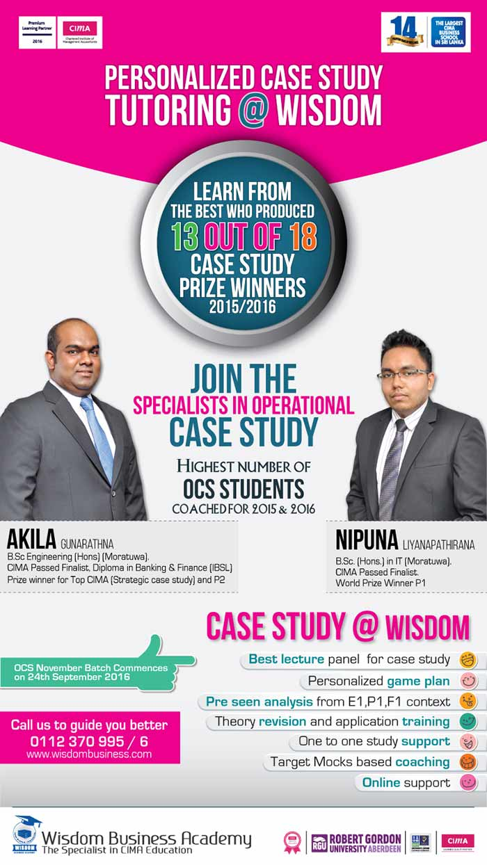 Join the Operational Case Study specialists @WISDOM