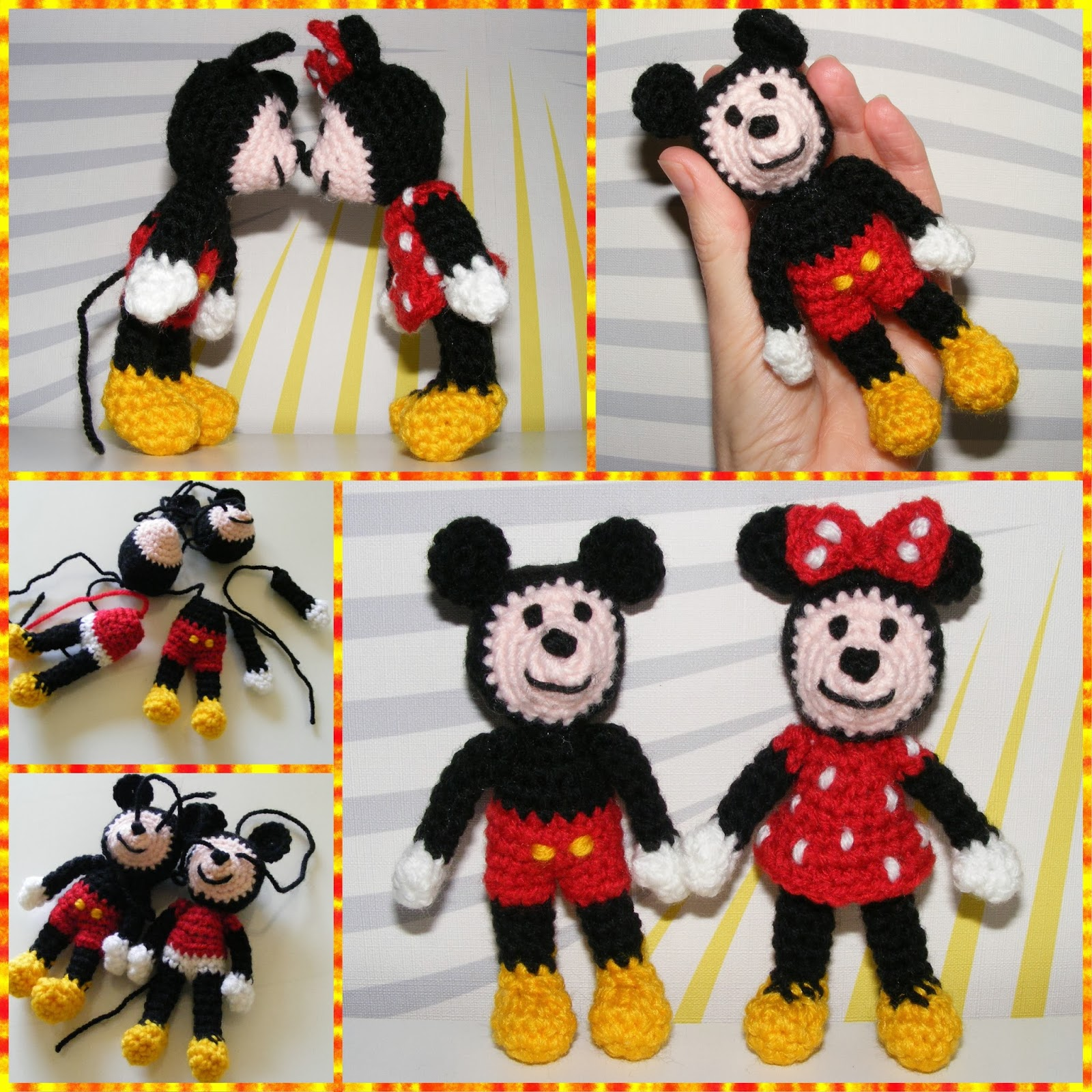 haken amigurumi disney, mickey minnie mouse, eigen patroon