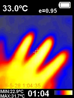 HT02 Thermal camera sample image