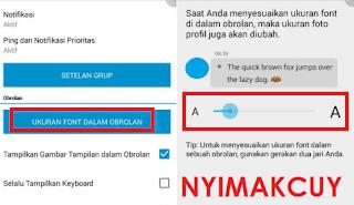 Cara Mengubah Ukuran Font BBM Android