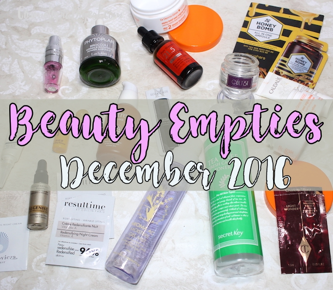 Here are the beauty products I used up in December 2016 and for my thoughts on each.